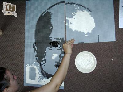 Lego mosaic