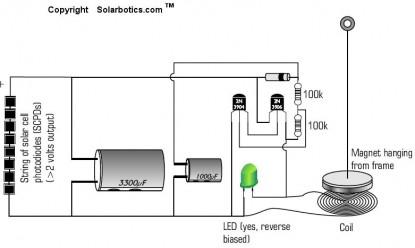 Solabotics Solar Pendulum Schematic